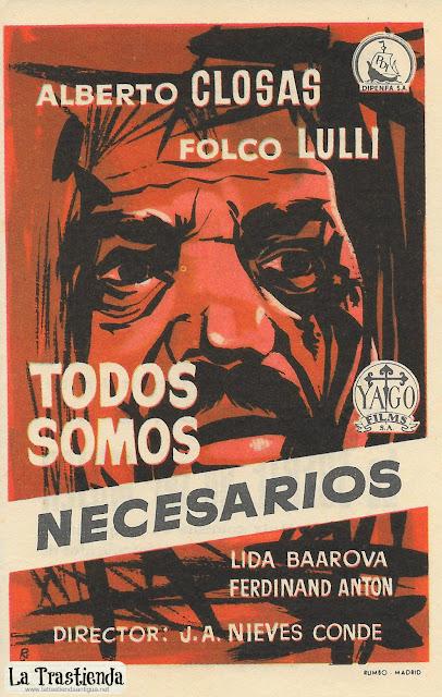 Todos Somos Necesarios - Programa de Mano - Alberto Closas - Folco Lulli