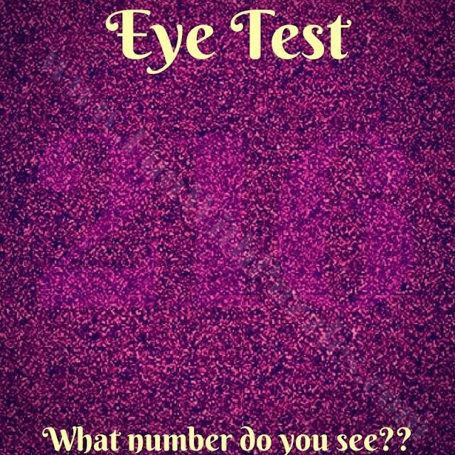 Eye test to read hidden number