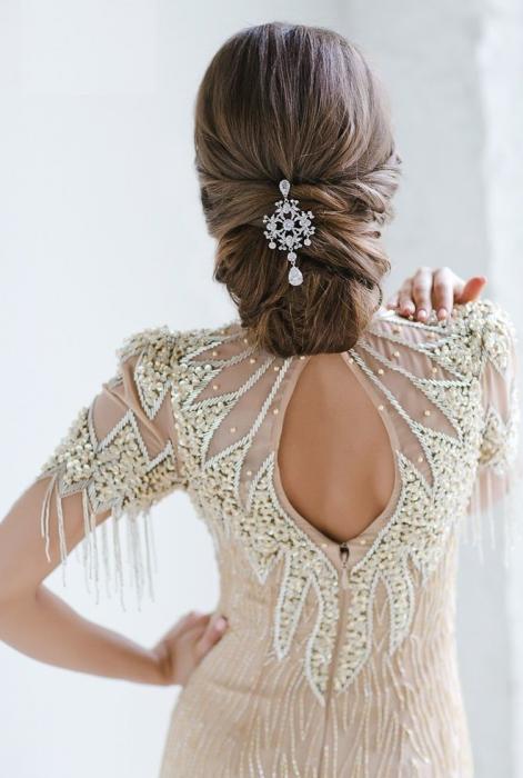 peinados de novia en la noche