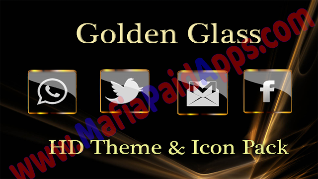 Golden Glass Nova Icon Pack v6.1 [Paid]
