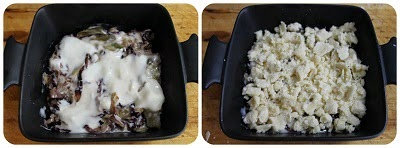 Crumble salato radicchio carciofi e stracchino