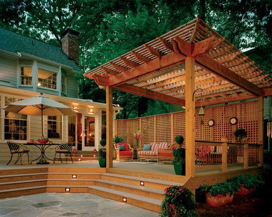 مظلات حدائق خشبية بخصم مظلات