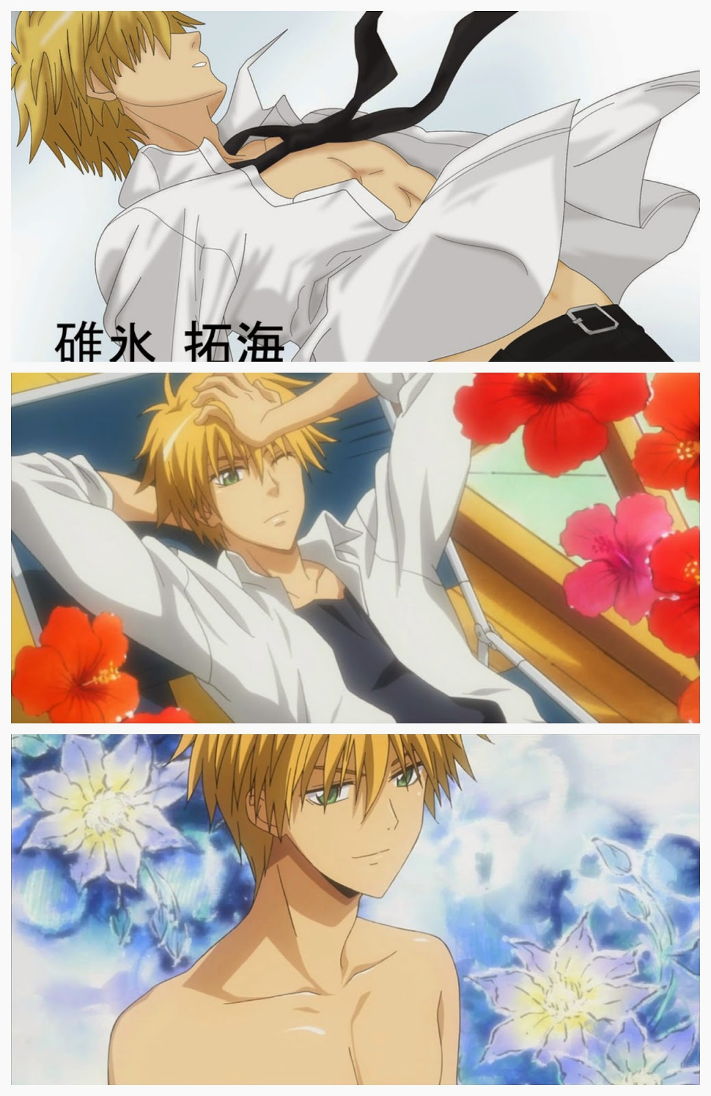 Usui Takumi, Kaichou Wa Maid-Sama, hottest anime guys, shirtless