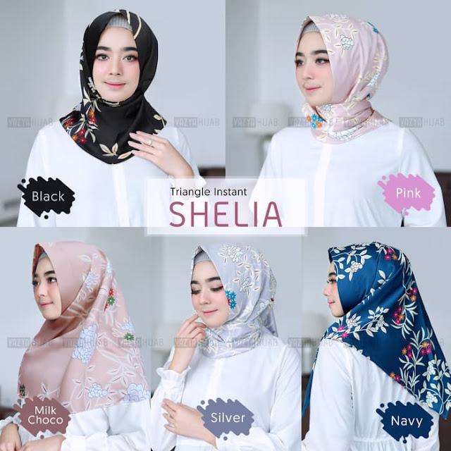 Jilbab INSTAN SEGITIGA Sheila MURAH Motif Cantik