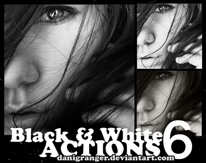 black and white acciones