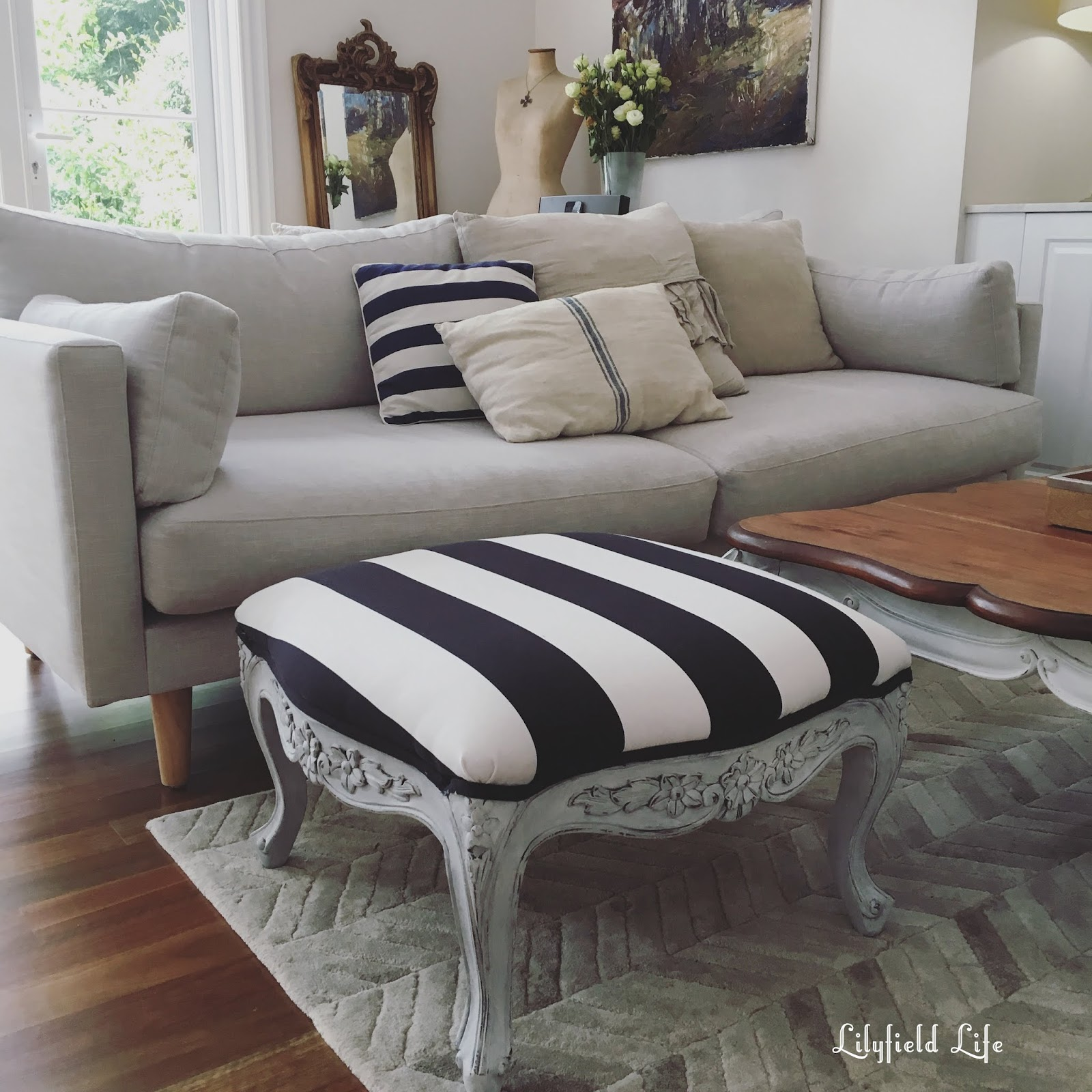 Awesome using the IKEA Sofia fabric for upholstery Lilyfield Life