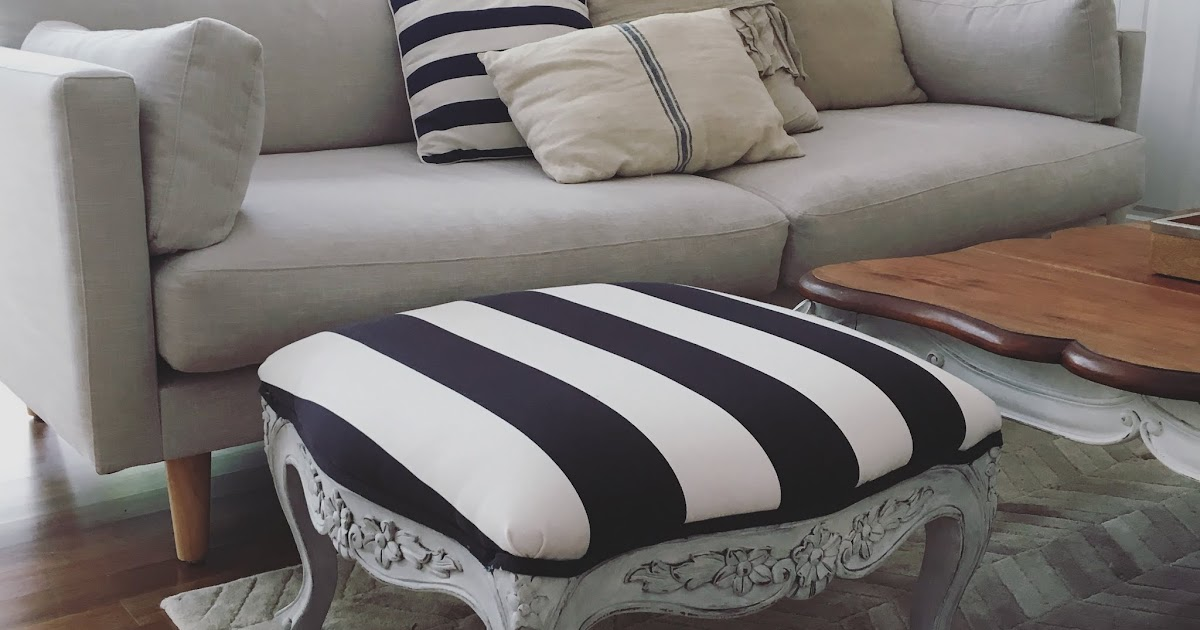 Lilyfield Life Ottoman And Bench Ikea Fabric Black And