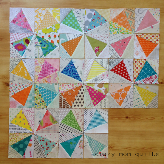 Crazy Mom Quilts Kaleidoscope Quilt In Progress