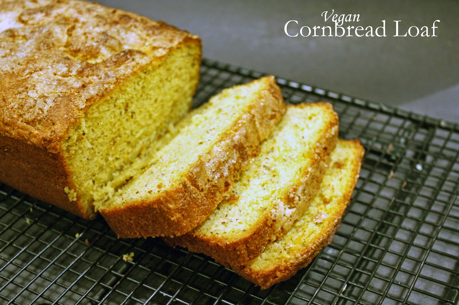 vegan sweet cornbread loaf