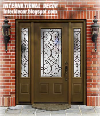 Home Exterior Designs Italian Wrought Iron Gl Door Inserts For
