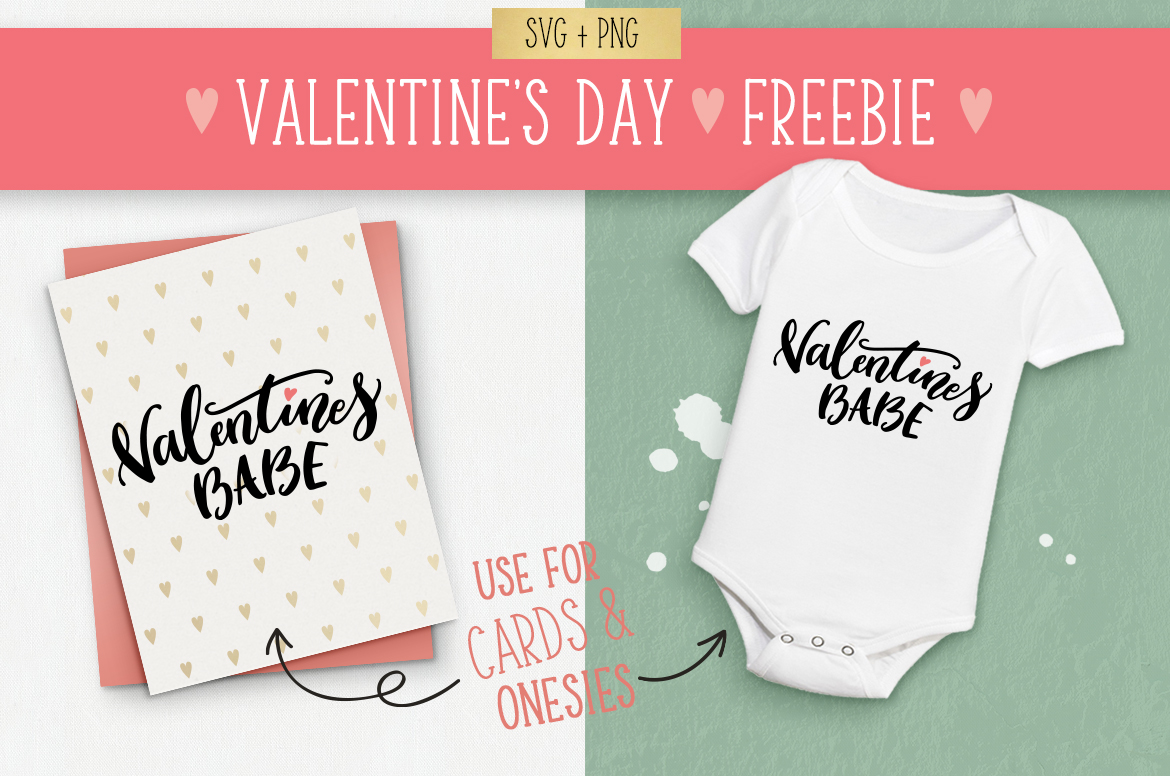 Valentines day SVG file freebie