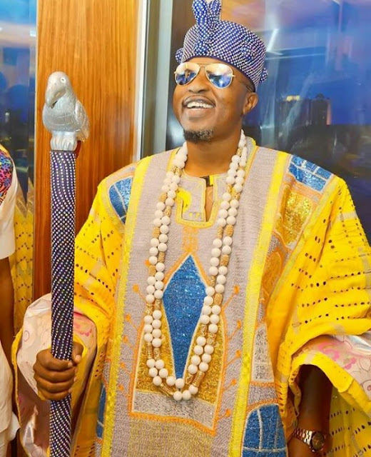 Photos: Oluwo of Iwoland, Oba Akanbi is such a showoff...lol