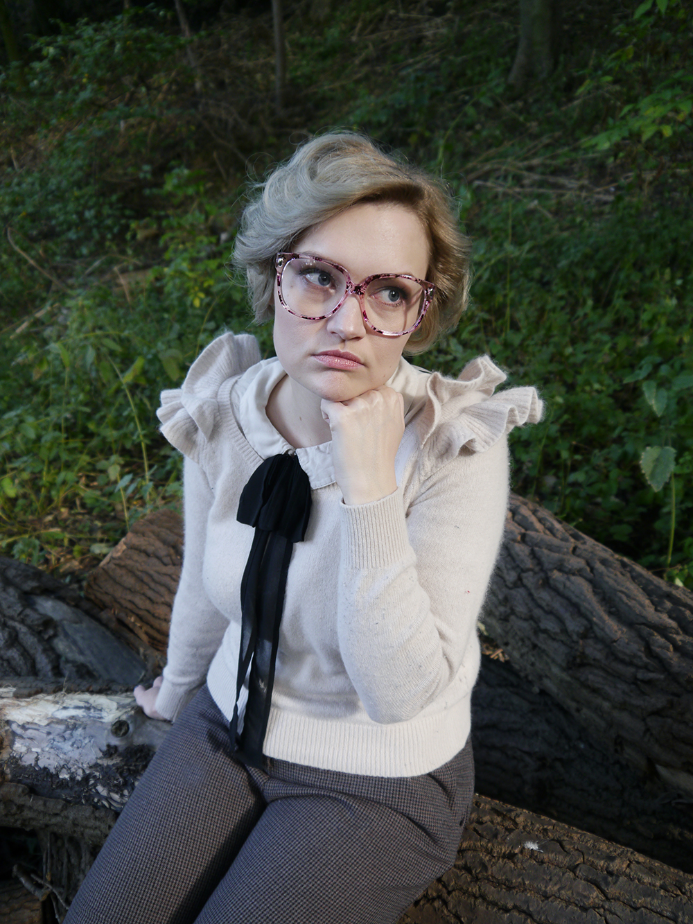 Barb Stranger Things costume, Edinburgh photo location woods, Stranger Things fashion style, blogger favourite halloween outfit, easy 80s style, Halloween 2016 costumes, unlikely style icon, barb stranger things style, Stranger Things Barb hairstyle