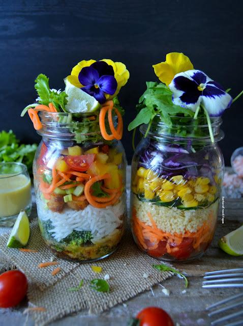 Salade en Jarre Vegan / Salad in a Jar Vegan