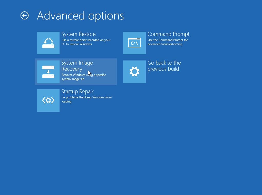 Các cách để truy cập vào màn hình Advanced Options trong Windows 10