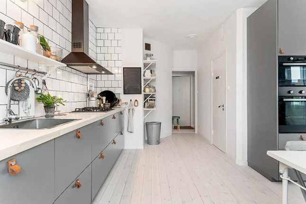 2 cocinas n rdicas con el tirador de moda cual te gusta - Tiradores para cocina ...