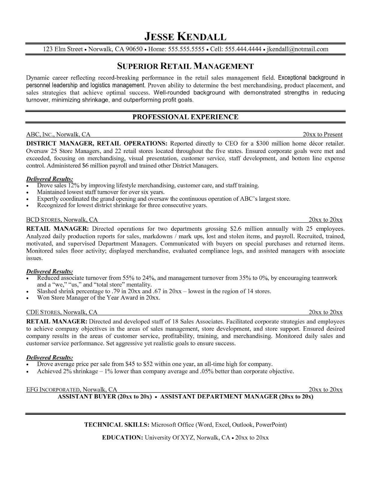 Retail Assistant Buyer Resume Examples. Newsound.co