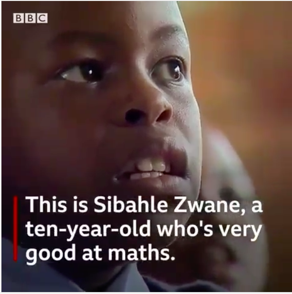 Meet Sibahle Zwane, the 10-year old South African Maths Genius taking over the Country's Social Media