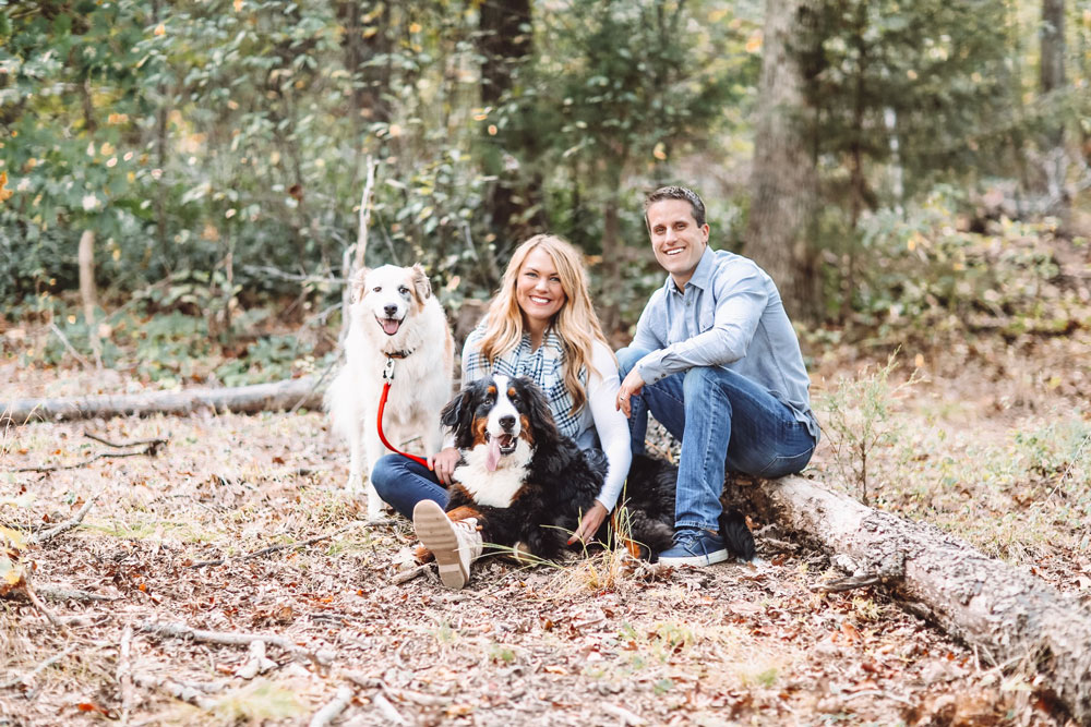 Christmas Card Ideas for Couples with Dogs