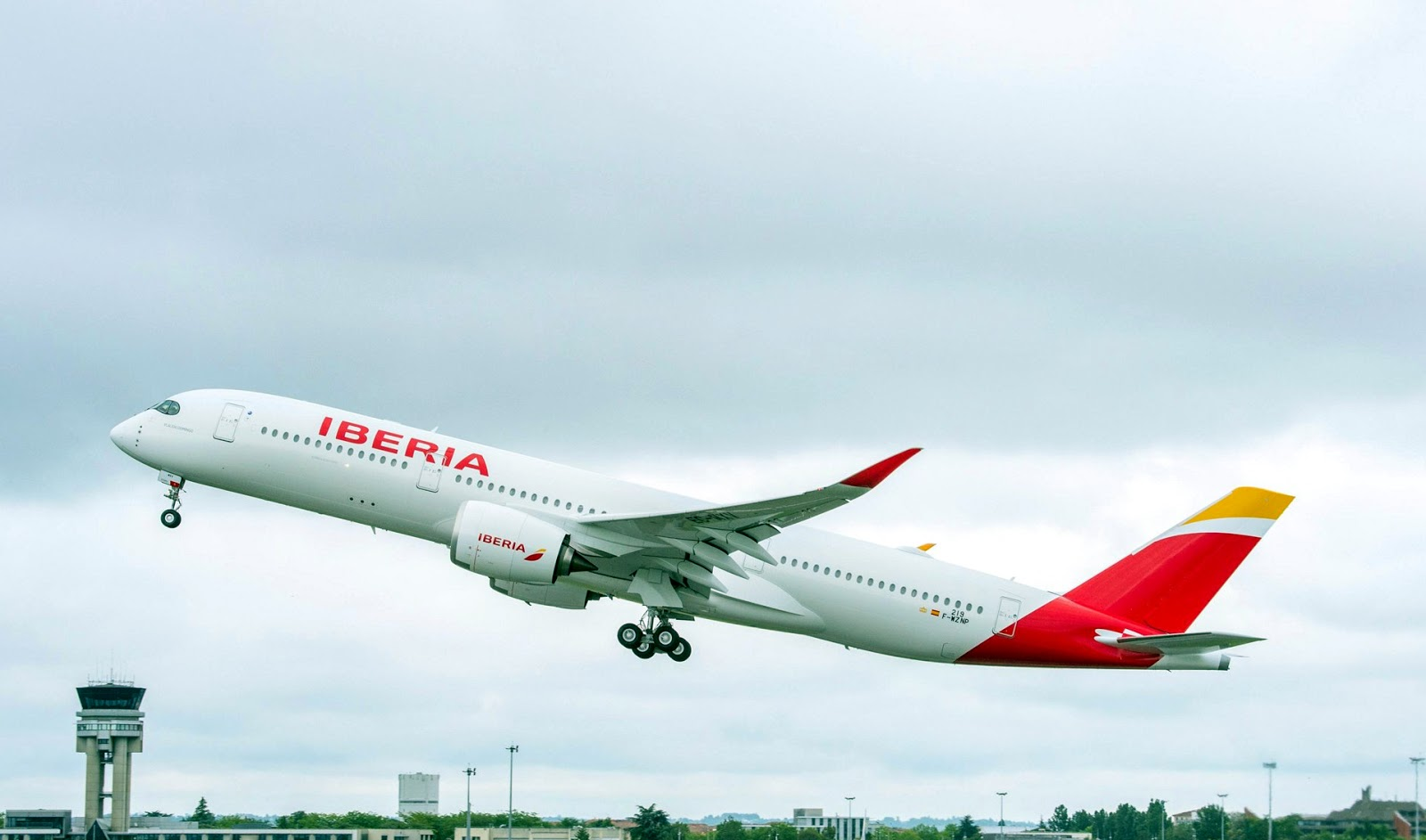 The Iberia Airbus A350-900 Takeoff