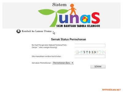 Semakan Status Permohonan Skim TUNAS 2018 Online