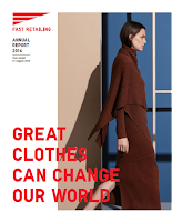 Front page of the annual 2016 Fast Retailing report