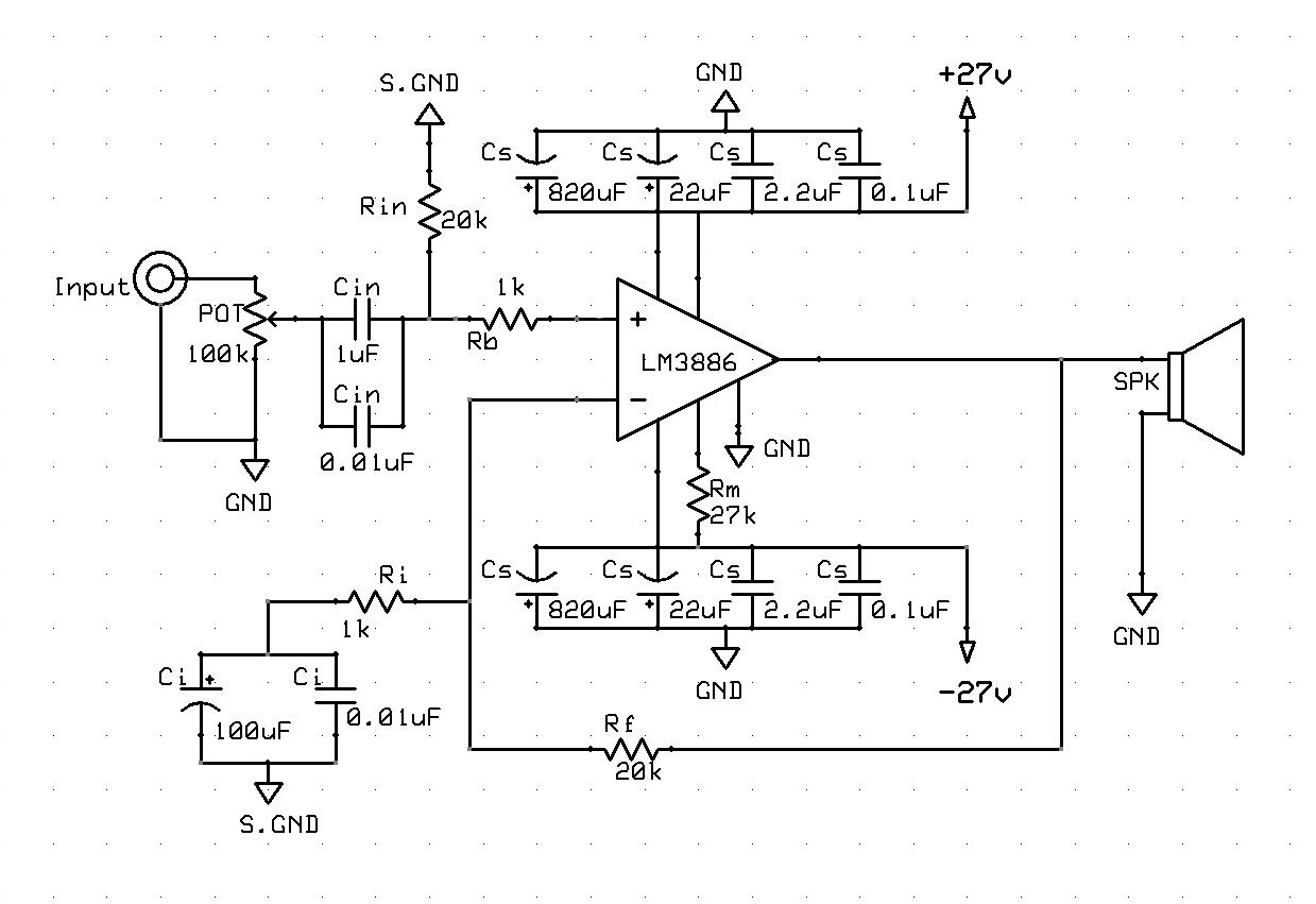 VC's Junk: Gainclone LM3886 ver.2