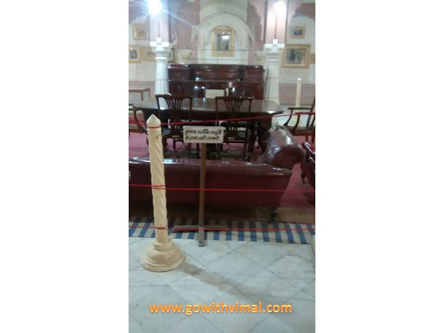 Furniture in Junagarh Fort Museum
