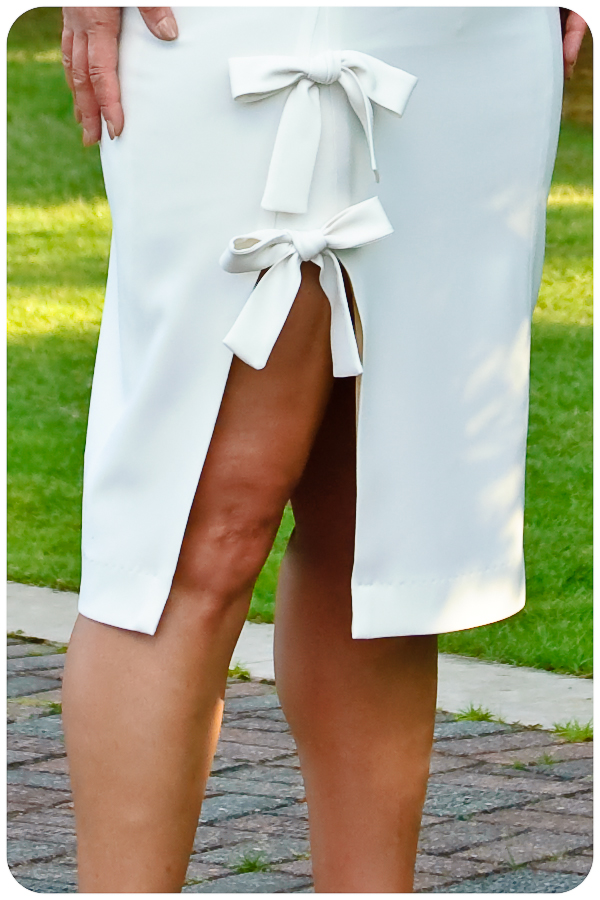 DIY White Bow Dress - Gusset Detail - Erica Bunker DIY Style!