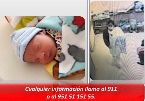 Recuperan a bebé robado por mujer en hospital de Oaxaca.