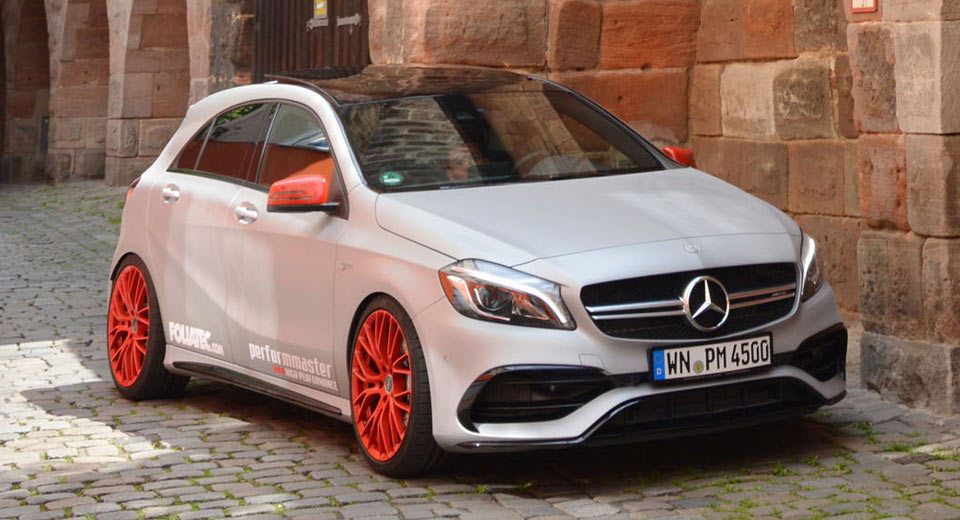 Mercedes-AMG A45 Even Hotter in Matte Silver With 410 HP [w/Video]