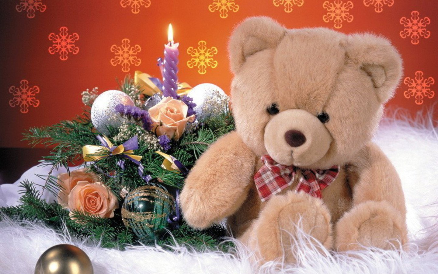 Christmas Teddy Bear Wallpaper: Teddy Bears: Teddy Bear V. & Wallpapers