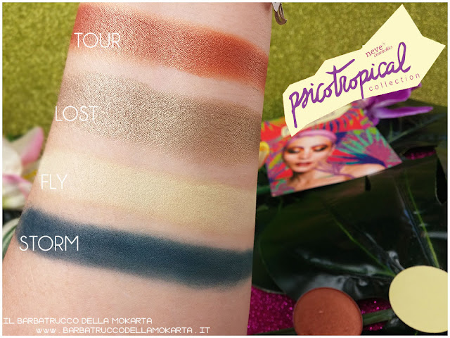 eyeshadow ombretti SWATCHES psicotropical collection neve cosmetics