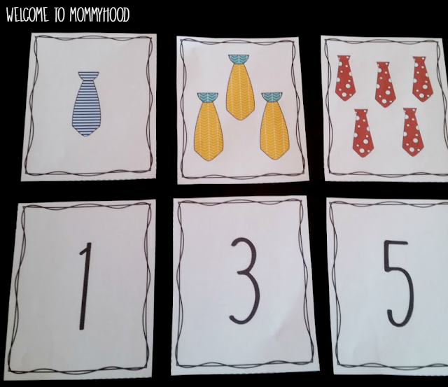 Father's Day Number Cards by Welcome to Mommyhood #fathersday, #fathersdayactivitiesforkids