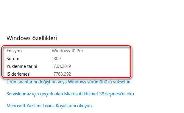 Ücretsiz Windows 10 kurulumdan sonraki özellikleri