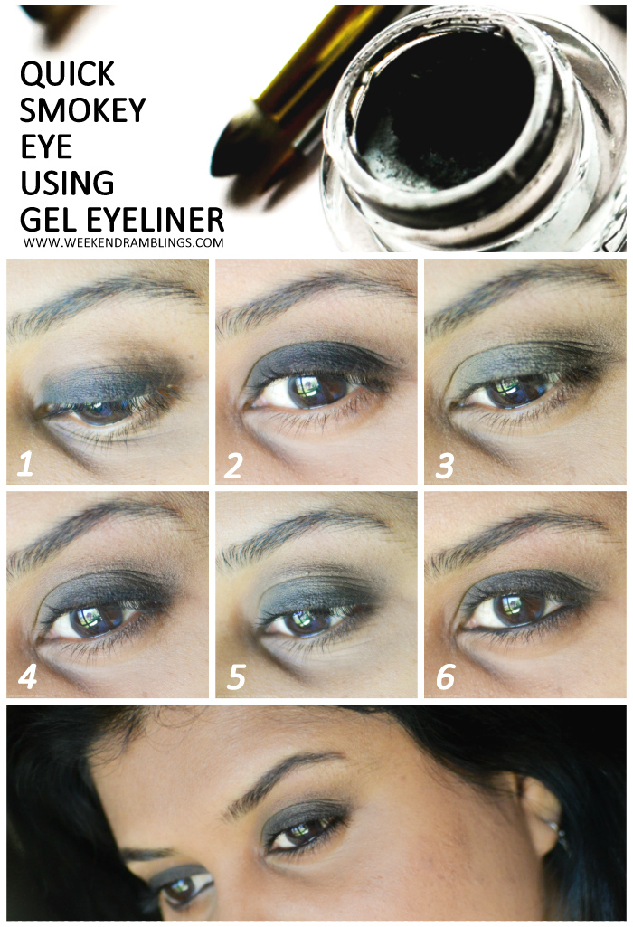 Weekend Ramblings: Quick Smokey Eye Using Gel Eyeliner
