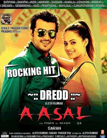 Poster Of Aasal 2010 Dual Audio 720p HDRip [Hindi - Tamil] Free Download Watch Online downloadhub.in