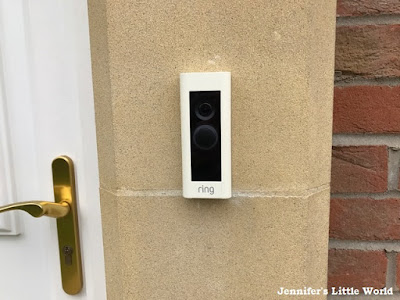 Ring doorbell on house
