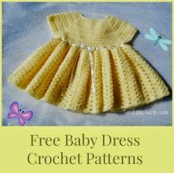 free crochet pattern baby dress, baby dress, newborn dress crochet pattern free