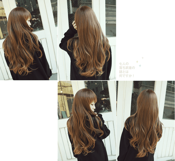 Korean Fashion Beauty Wig - Milk Caramel Color Brown Model 3