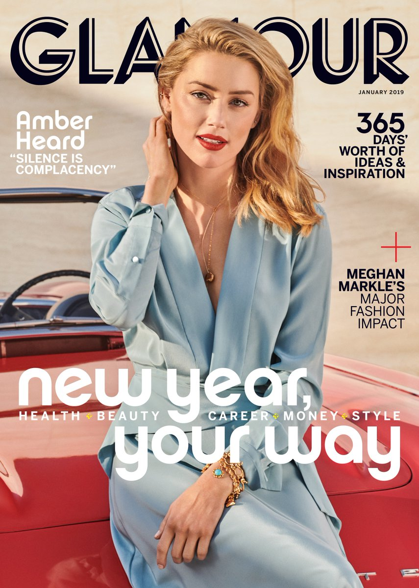 Amber Heard for Glamour US January 2019