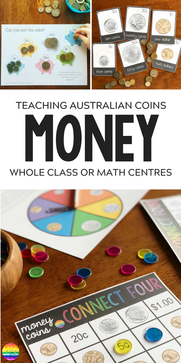 Australian Coins - printables and teaching ideas | you clever monkey