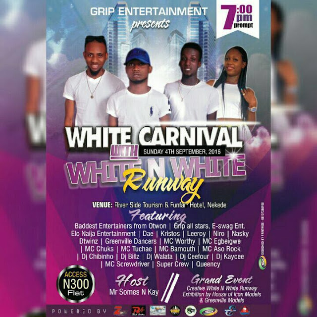 Don't miss Grip Entertainment White Carnival with White n White Runway for anything.