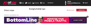 Add Site Adnow Bang Tutorial