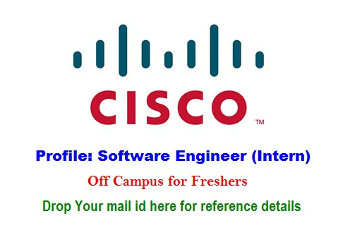 Internship with Cisco, Freshers, Software Engineer (Intern