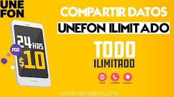 COMPARTIR DATOS UNEFON ILIMITADO 2019 NUEVO METODO