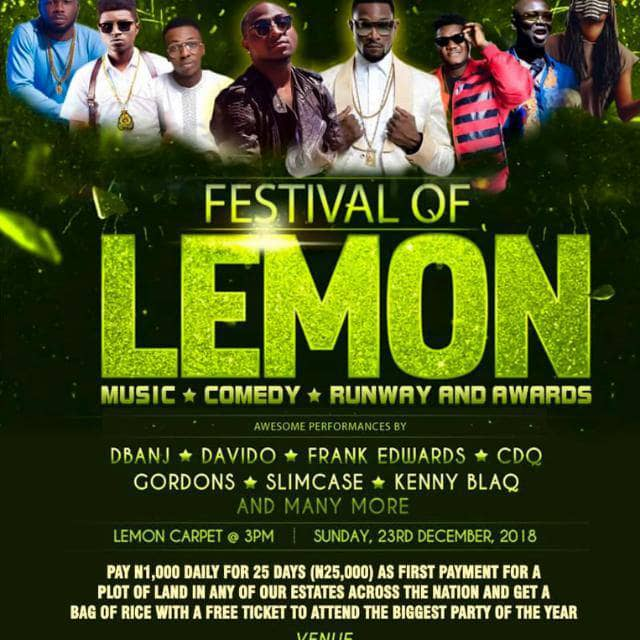 Celebrities, Dignitaries To Storm Andron Homes Festival Of Lemon