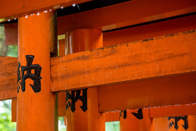 Fushimi Inari-Taisha ... detalle de las inscripciones y de la lluvia :: Canon EOS5D MkIII | ISO1600 | Canon 24-105@105mm | f/4.0 | 1/25s
