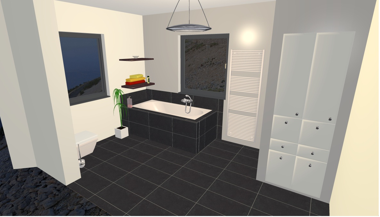 Badezimmer Anthrazit Boden