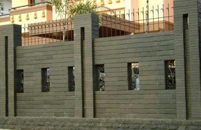 gambar pagar tembok samping rumah terbaru